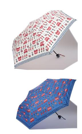 ロンドン柄折りたたみ傘1