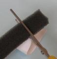 ストローのスライドホイッスル(牛乳パック利用型)作り方3