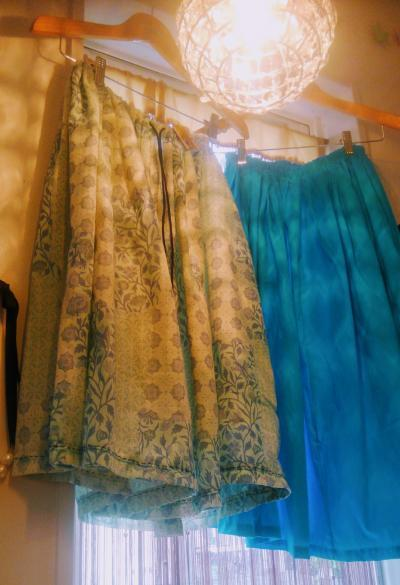 スカート2種 YUWAアラベスク、ターコイズ