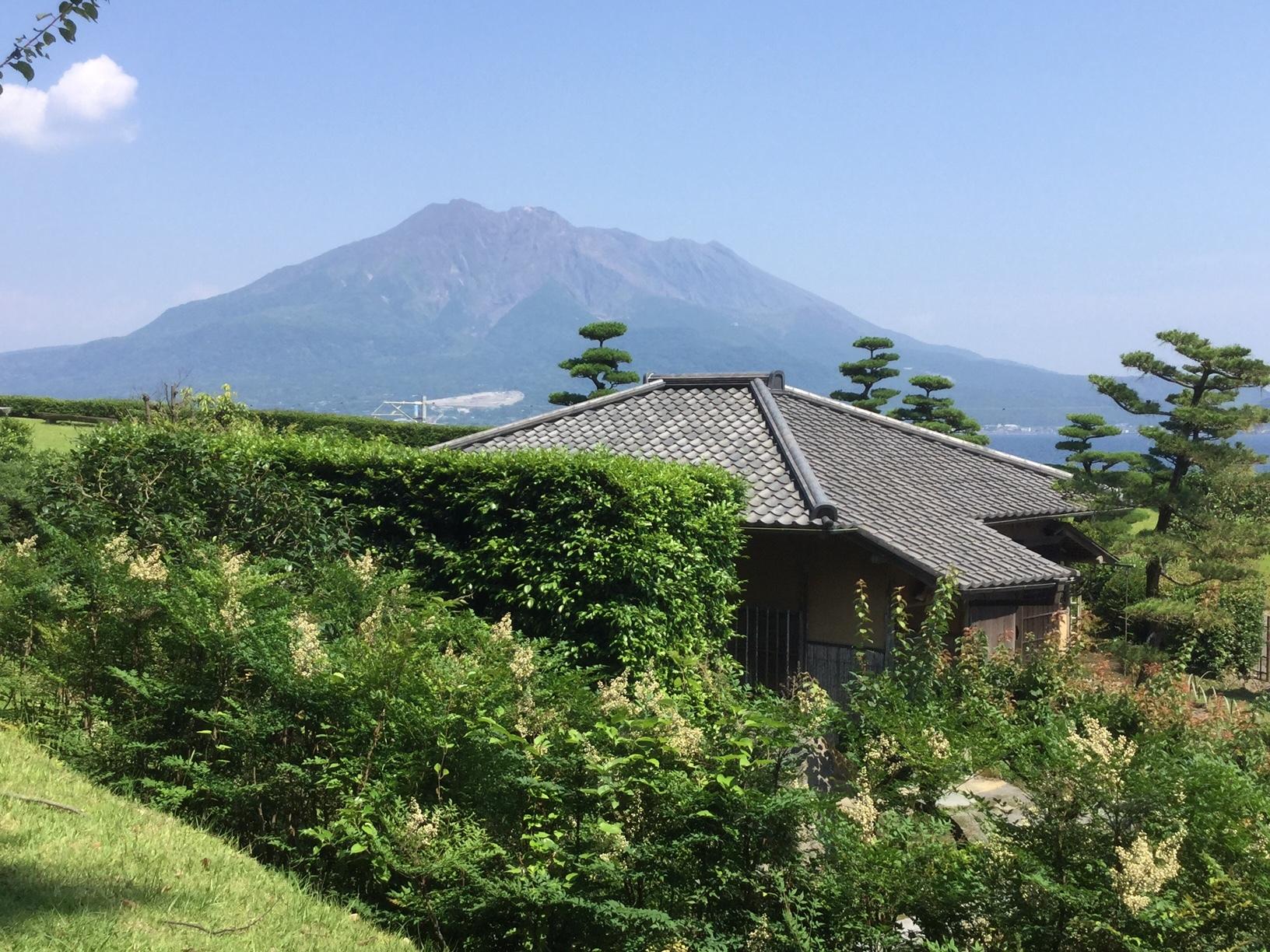 2017615仙巌園から見える桜島