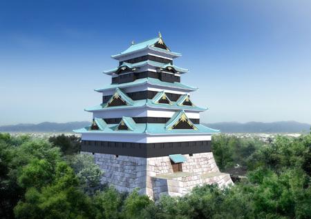 フリー写真(江戸城・想像)