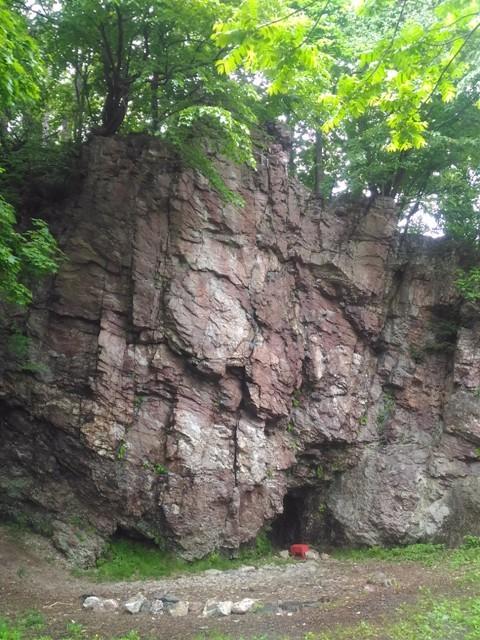 雨上がりの奥立岩