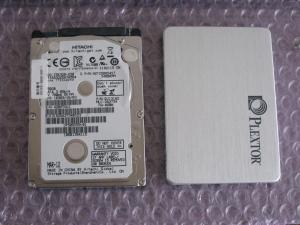 作業7:250GB-HDDとSSD