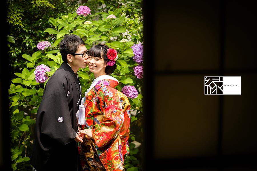 鎌倉紫陽花和装前撮り縁06