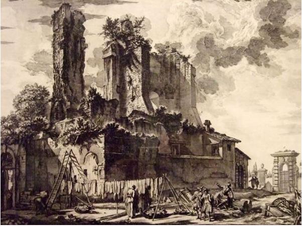 zz dp銅版画 Giovanni Battista Piranesi 美しき悪趣味。廃墟と幻想を愛した芸術家『ピラネージ』