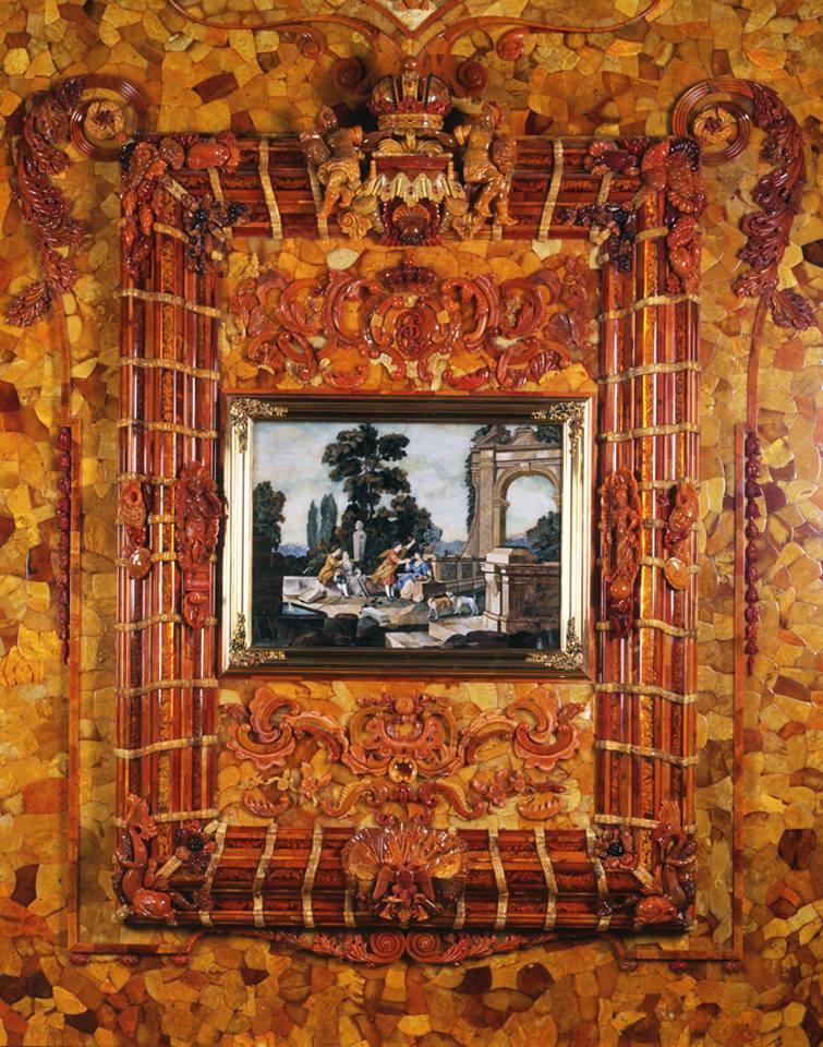 zz pa エルミタージュ美術館 琥珀の間a-4 琥珀の間 第二次大戦中ナチが琥珀を奪ったが戦後に大改装して復元