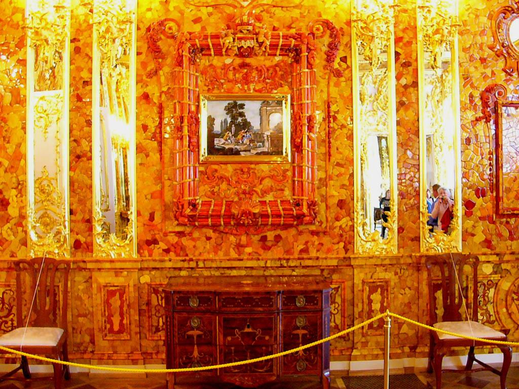 zz pa エルミタージュ美術館 琥珀の間a-8 琥珀の間 第二次大戦中ナチが琥珀を奪ったが戦後に大改装して復元