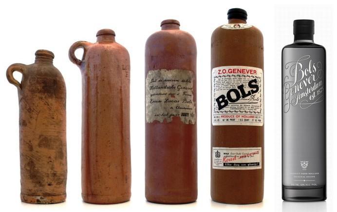 zz zdジンボトル アンティーク BOLS (ジン)アムステルダム、オランダ1860~1890a-2