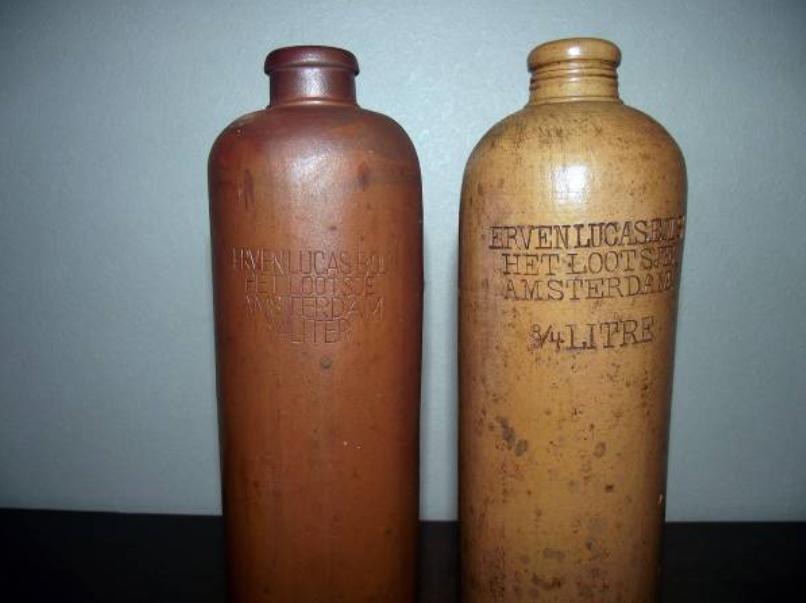 zz zdジンボトル アンティークBOLS (ジン)アムステルダム、オランダ1860~1890a-2