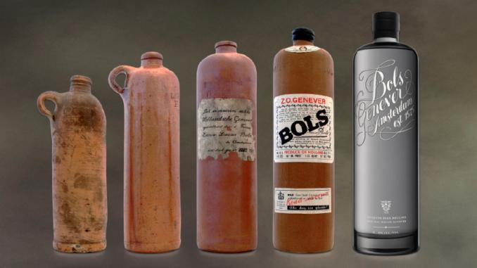 zz zdジンボトル アンティーク BOLS (ジン)アムステルダム、オランダ1860~1890a-3
