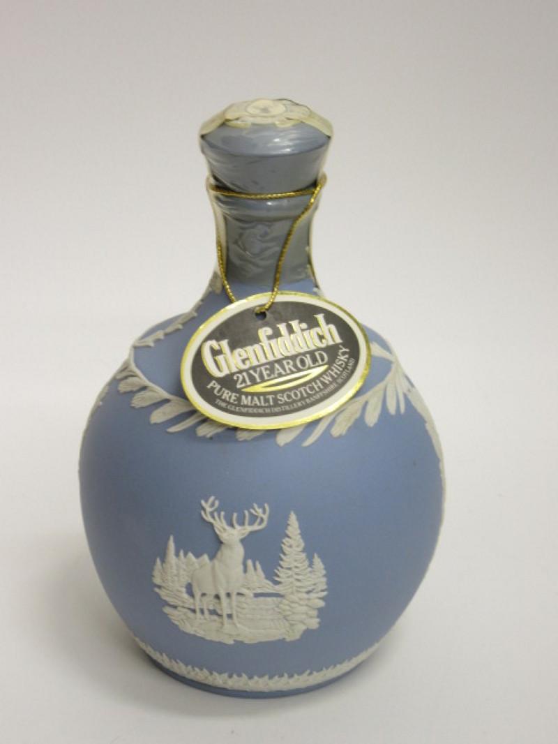 zz zg グレンフィディック-21年-ウェッジウッド製 陶器ボトル