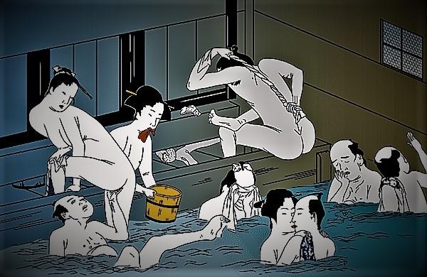 zz zoy 『艶本枕言葉』上巻 山東京伝 (川柳)猿猴(えんこう)にあきれて娘湯を上がり  (2)