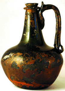 0-23 Glass handled Onion shape wine bottle made £23,690 @BBR auctions in Yorkshire