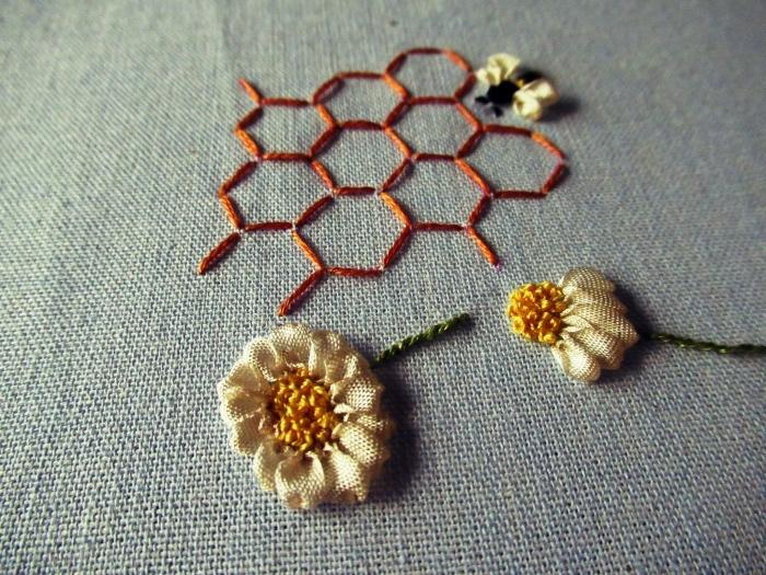 リボン刺繍 20170601