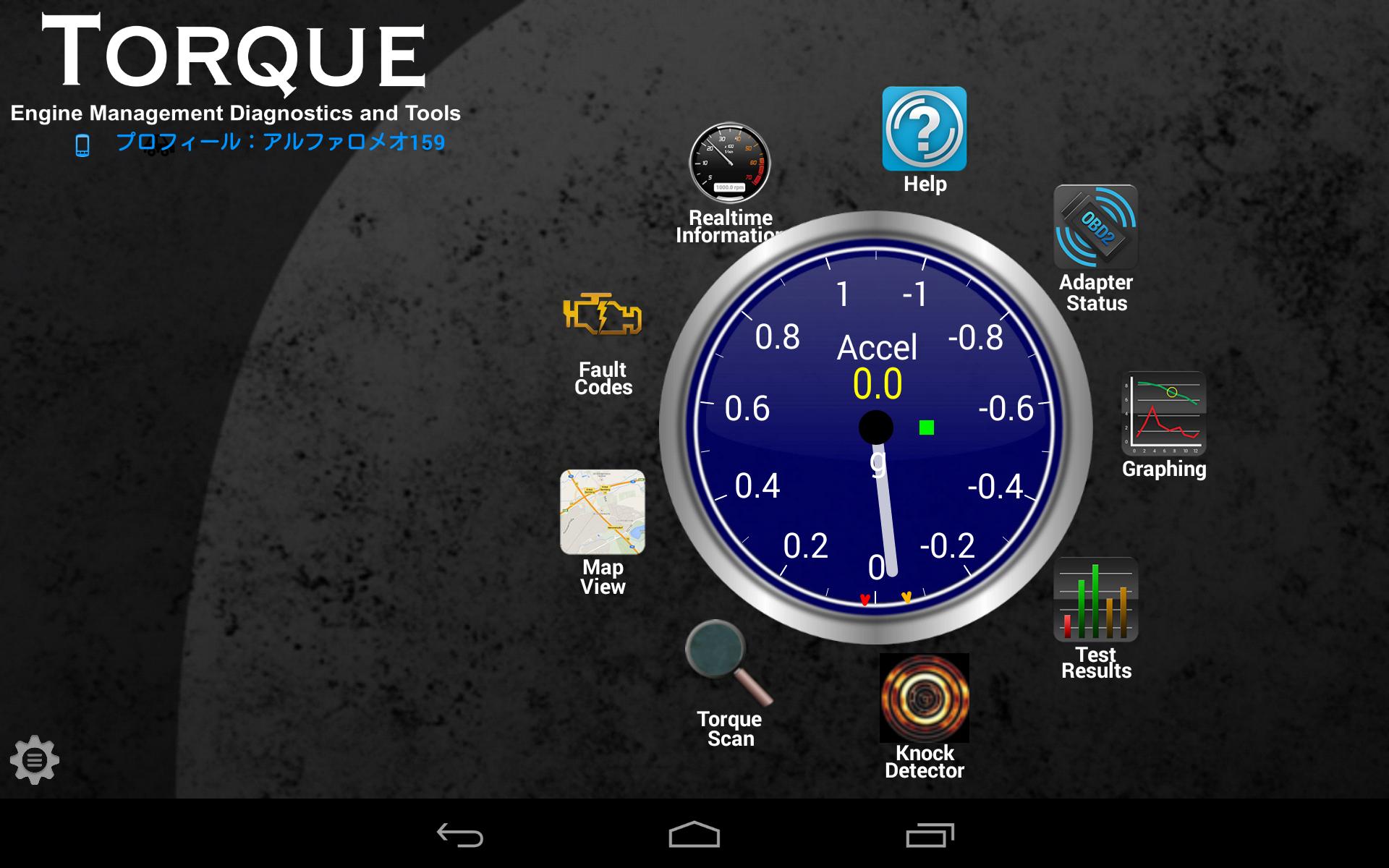 2サイクルの中心で愛を叫ぶ アルファロメオ159 OBD2アプリ Torque Pro