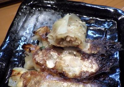 麺屋 一刃 餃子(中身のアップ)