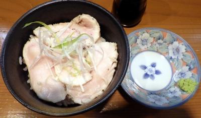 麺屋 一刃 鶏レアチャーシュー丼(わさび)