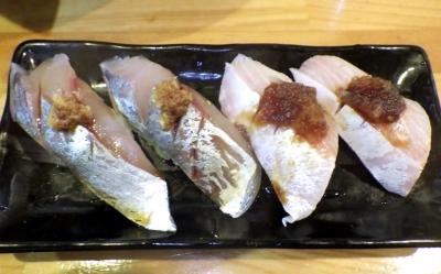 麺哲支店 麺野郎 鮨(アジとカンパチ:2017年5月)
