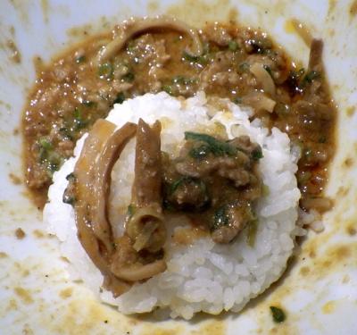 汁なしゴジラ 汁なし担々麺 辛さ4倍(締めご飯)
