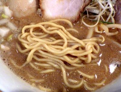 中華そば 閃 ごま中華そば(麺のアップ)