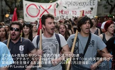 デフォルト危機でのギリシャの若者