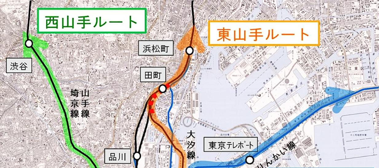 羽田空港アクセス線図上