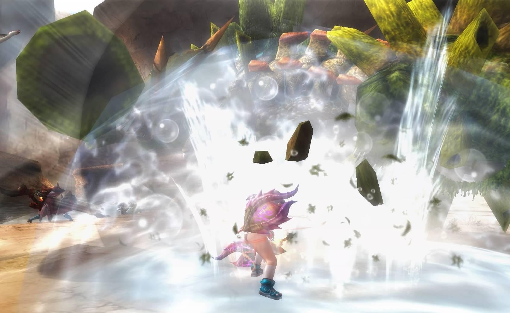 たかが水に見えても、地面を粉砕する威力すらあるから侮れない