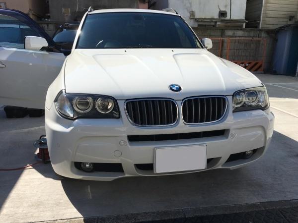革巻きステアリング 擦れ、キズ補修 BMW X3