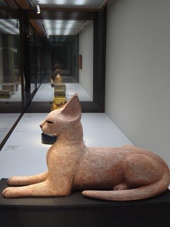 ガラスケース猫横向き