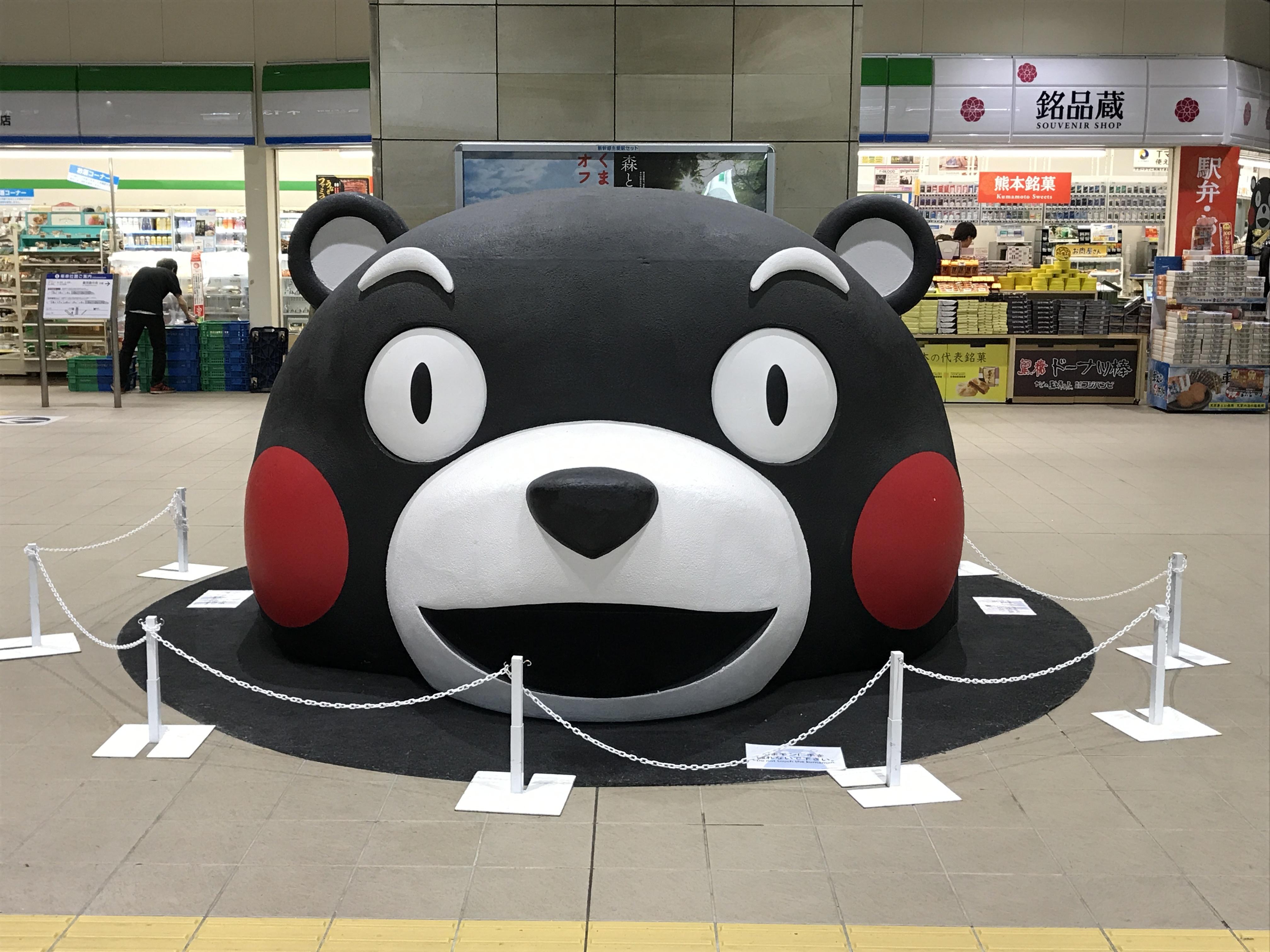 熊本駅内のクマモン