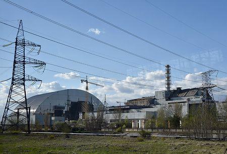 ウクライナ北部のチェルノブイリ原発=2016年4月(AFP=時事)