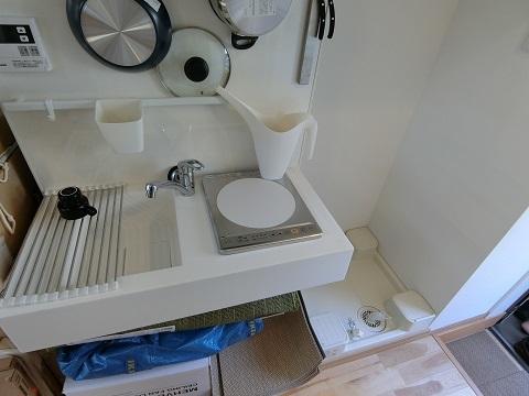 恵比寿102キッチン洗濯機置き場