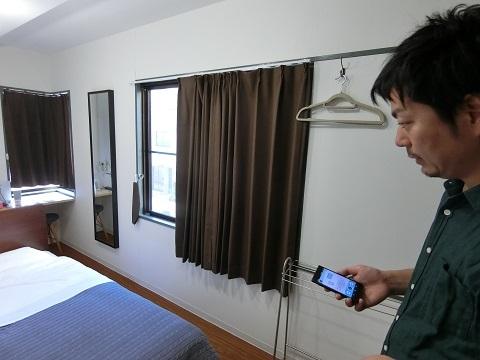 上野ホステル2Fカーテン