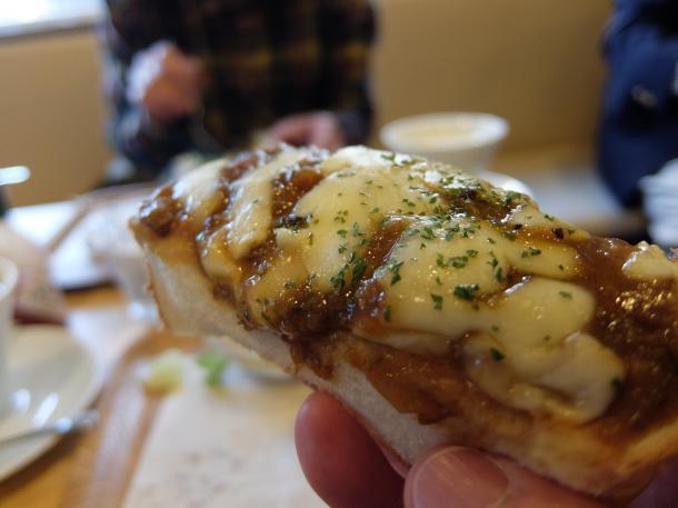 カレー・チーズトースト