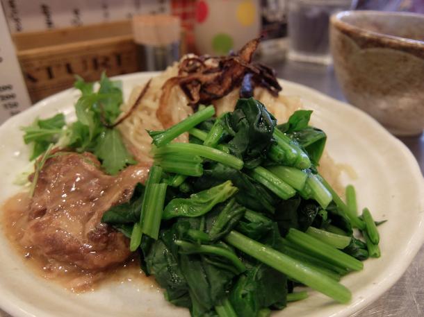 カレーつけ麺ほうれん草TOPPING