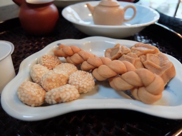 中華菓子の盛り合わせ