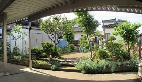 庭全景 パノラマ写真