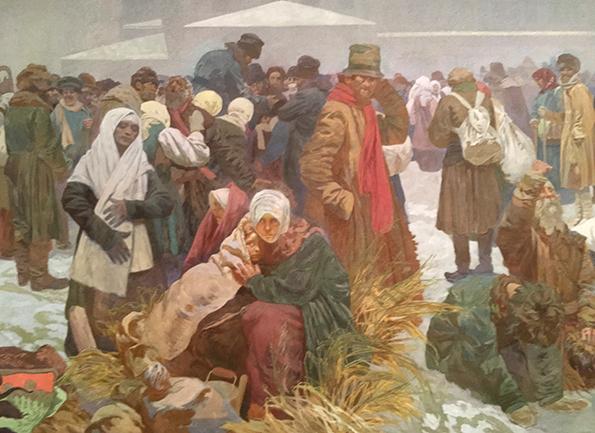 アルフォンス・マリア・ミュシャ「ロシアの農奴制廃止」