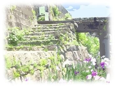 石段と石垣-1