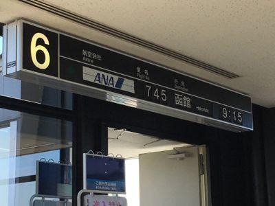 ANA745便 函館空港行きの搭乗直前です