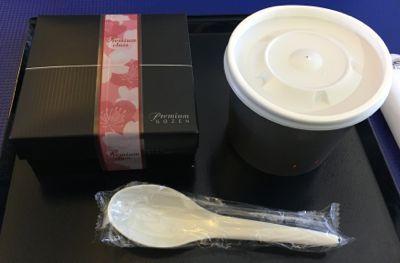 ANA745便 プレミアムクラスの朝食 開封前の様子