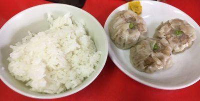 函館ラーメンの鳳蘭 定食 シューマイとご飯