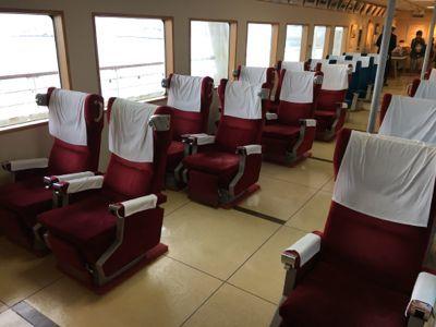 函館市青函連絡船記念館摩周丸 旧グリーン座席