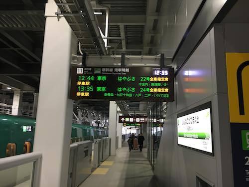 新函館北斗駅 はやぶさ22号東京行きに乗車します