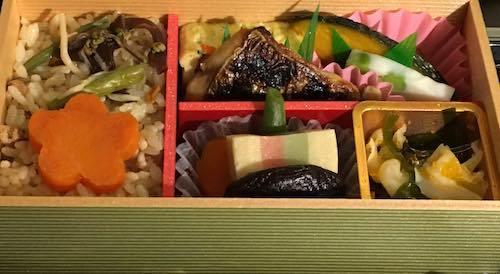 はやぶさ22号 今回のグランクラスの和食のお弁当