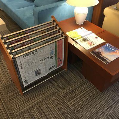 ネスタリゾート神戸 ロビーでは新聞を読めます