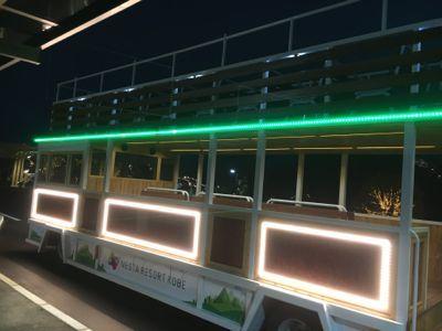 ネスタイルミナ会場に向かう光のバス