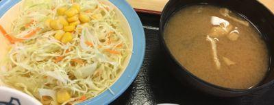 松屋フーズ 豚焼肉定食 野菜と味噌汁