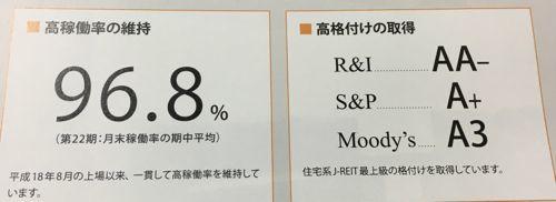 日本アコモデーションファンド投資法人 高稼働率を維持