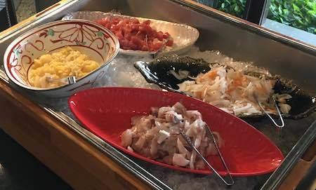 ザ・ダイニング万彩 夕食ブッフェ 海鮮丼コーナー